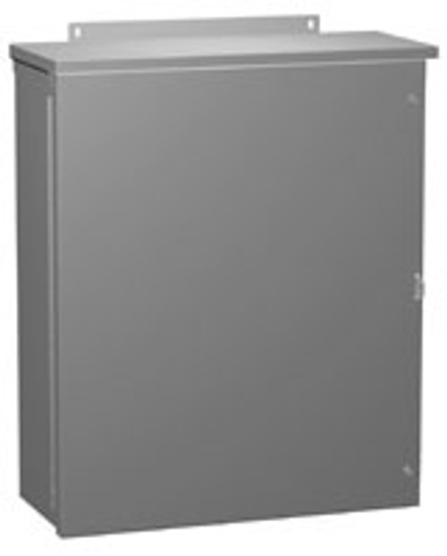 C3R20208HCR | Hammond Manufacturing 20 x 20 x 8 NEMA 3R Hinged Cover Enclosure without Knockouts
