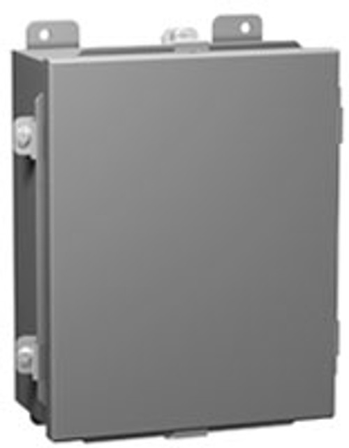 1414N4C | 6 x 4 x 3 Steel Enclosure with Lift-Off Cover and Clamps (w/ Panel)