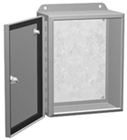 EJ12146LG   12 x 14 x 6 Hammond Manufacturing Eclipse Junior Enclosure Light Gray (w/Panel)