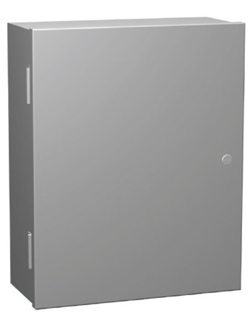 N1A20167 | 20 x 16 x 7 Steel Enclosure with Hinge Door and Quarter Turn