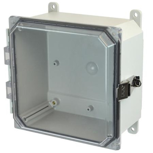 AMP884CCL - Allied Moulded JIC Size Junction Box (SS Lockable Snap Latch Hinged Cover)