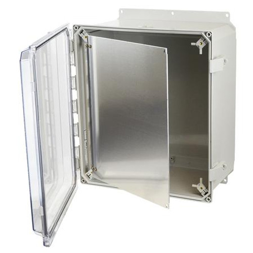 HFPP164   Allied Moulded Products Hinged Front Swing Panel (For 16 x 14 Enclosures)