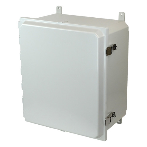 AMP1648L | 16 x 14 x 8 Junction Box (SS Lockable Snap Latch Hinged Cover)