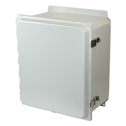 AMP1648LF | 16 x 14 x 8 Junction Box (SS Lockable Snap Latch Hinged Cover)