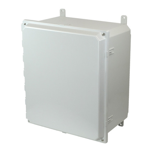 AMP1860 | Allied Moulded Products 18 x 16 x 10 Polycarbonate enclosure with 4-screw lift-off cover