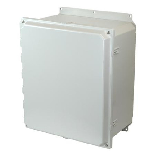 AMP1860HF | Allied Moulded Products 18 x 16 x 10 Polycarbonate enclosure with 2-screw hinged cover