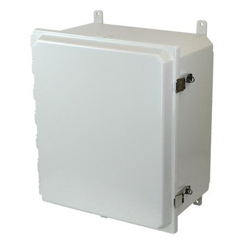 AMP1860L | Allied Moulded Products 18 x 16 x 10 Hinged SS Snap Latch Junction Box