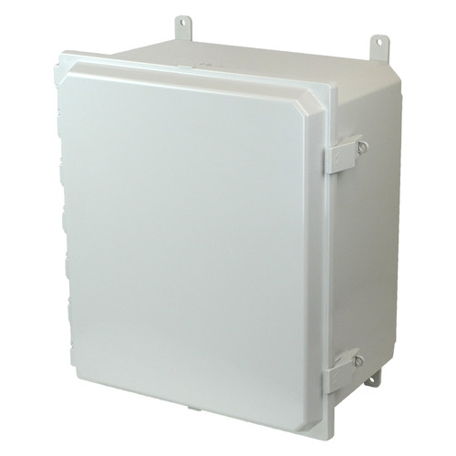AMP1860NL | Allied Moulded Products 18 x 16 x 10 Polycarbonate enclosure with hinged cover and nonmetal snap latch