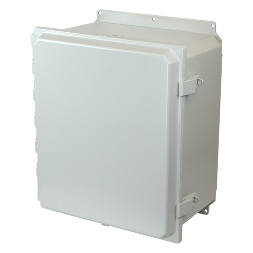 AMP1860NLF | Allied Moulded Products 18 x 16 x 10 Polycarbonate enclosure with hinged cover and nonmetal snap latch