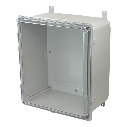 AMP1860CC | Allied Moulded Products 18 x 16 x 10 Polycarbonate enclosure with 4-screw lift-off clear cover