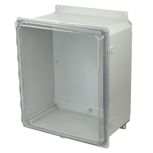 AMP1860CCF | Allied Moulded Products 18 x 16 x 10 Polycarbonate enclosure with 4-screw lift-off clear cover