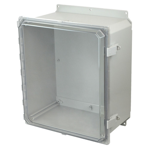 AMP1860CCNLF | Allied Moulded Products 18 x 16 x 10 Polycarbonate enclosure with hinged clear cover and nonmetal snap latch