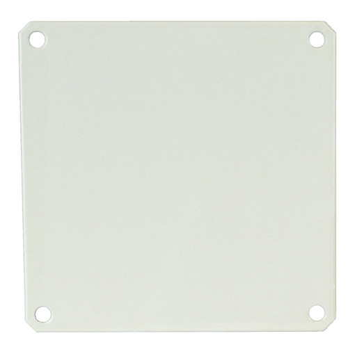 PL88 | Allied Moulded Products White Carbon Steel Back Panel (For 8 x 8 Enclosures)