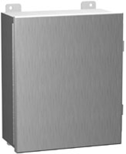 1414N4PHSSI | 10 x 8 x 4 Steel Enclosure with Continuous Hinge Door and Clamps