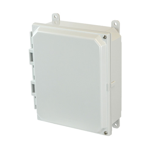 AMP1082H | 10 x 8 x 2 Polycarbonate enclosure with 2-screw hinged cover