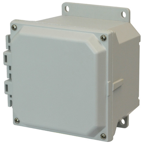 AMU664F | 6 x 6 x 4 Fiberglass enclosure with 4-screw lift-off cover