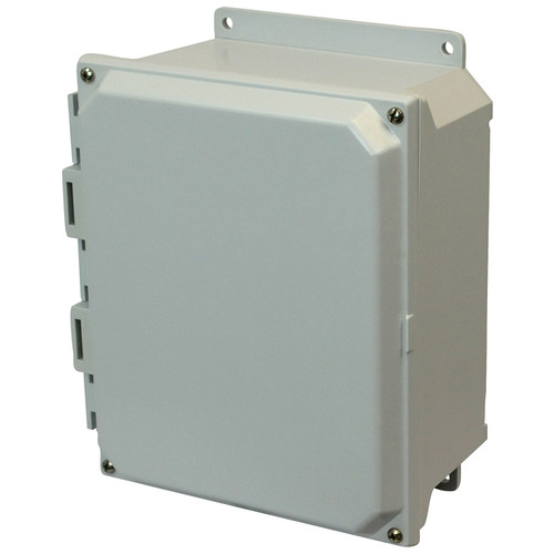 AMU864F   8 x 6 x 4 Fiberglass enclosure with 4-screw lift-off cover
