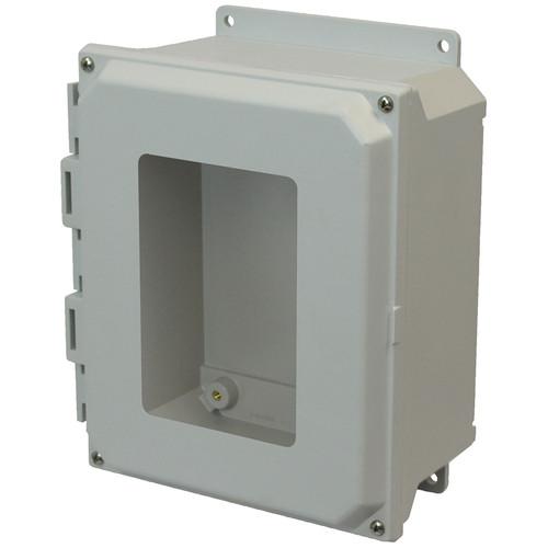 AMU864WF   8 x 6 x 4 Fiberglass enclosure with 4-screw lift-off window cover