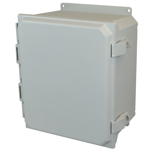 AMU1206NLF | Allied Moulded 12 x 10 x 6  Nonmetal Snap Latch Hinged Solid/Opaque Cover