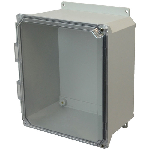 AMU1206CCHF | Allied Moulded Products 12 x 10 x 6  Hinged 2-Screw Clear Cover