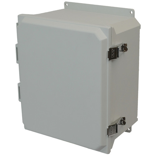 AMU1426LF | Allied Moulded Products 14 x 12 x 6  Metal Snap Latch Hinged Solid/Opaque Cover