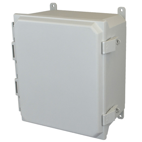 AMU1426NL | Allied Moulded Products 14 x 12 x 6  Nonmetal Snap Latch Hinged Solid/Opaque Cover
