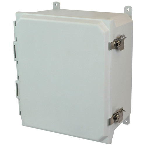AMU1426T | Allied Moulded Products 14 x 12 x 6  Twist Latch Hinged Solid/Opaque Cover