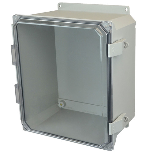 AMU1426CCNLF | Allied Moulded Products 14 x 12 x 6  Nonmetal Snap Latch Hinged Clear Cover