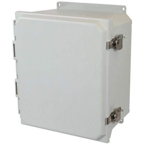 AMU1648TF | 16 x 14 x 8 Fiberglass enclosure with hinged cover and twist latch