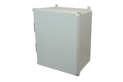 AMU2060H | Allied Moulded Products 20 x 16 x 10  Hinged 2-Screw Solid/Opaque Cover