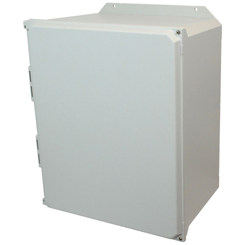 AMU2060HF | Allied Moulded Products 20 x 16 x 10  Hinged 2-Screw Solid/Opaque Cover