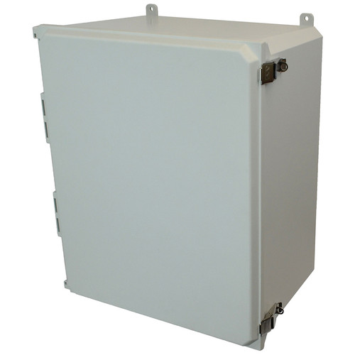 AMU2060L | Allied Moulded Products 20 x 16 x 10  Metal Snap Latch Hinged Solid/Opaque Cover