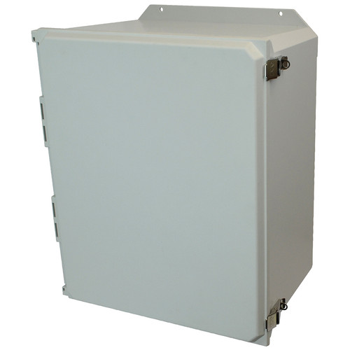 AMU2060LF   Allied Moulded Products 20 x 16 x 10  Metal Snap Latch Hinged Solid/Opaque Cover