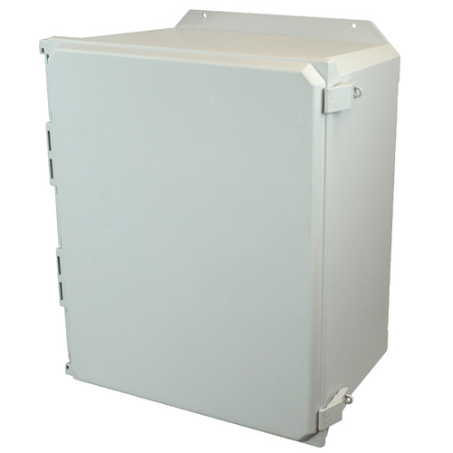 AMU2060NLF | Allied Moulded Products 20 x 16 x 10  Nonmetal Snap Latch Hinged Solid/Opaque Cover