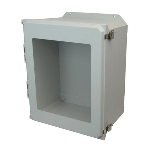AMU2060TWF | 20 x 16 x 10 Fiberglass enclosure with hinged window cover and twist latch