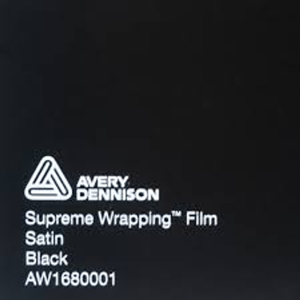 Avery Dennison Satin Black AW1680001 (152x25cm)
