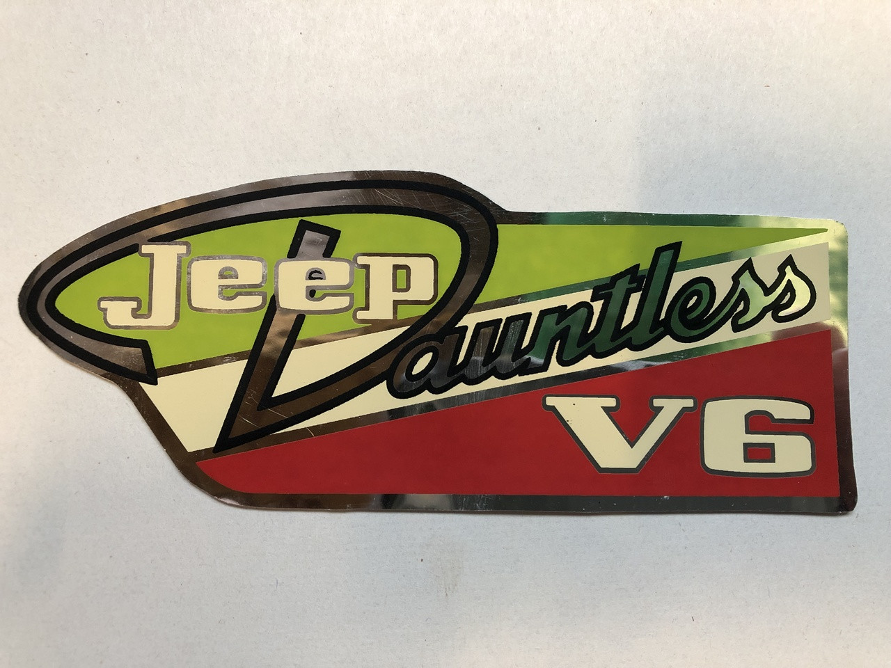 Decal, Dauntless V6 Valve Cover, each