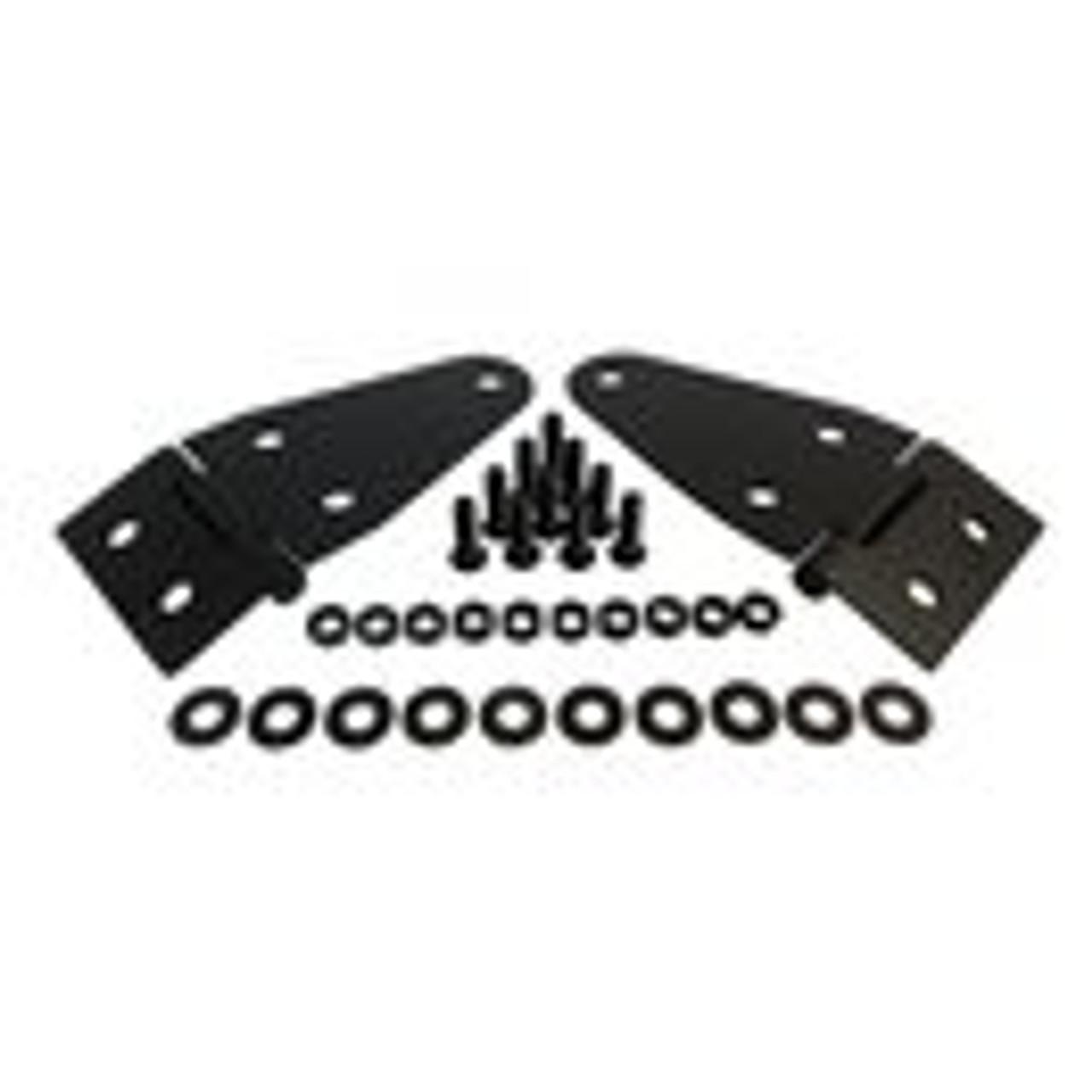 Black powder coated stainless steel hood hinge kit