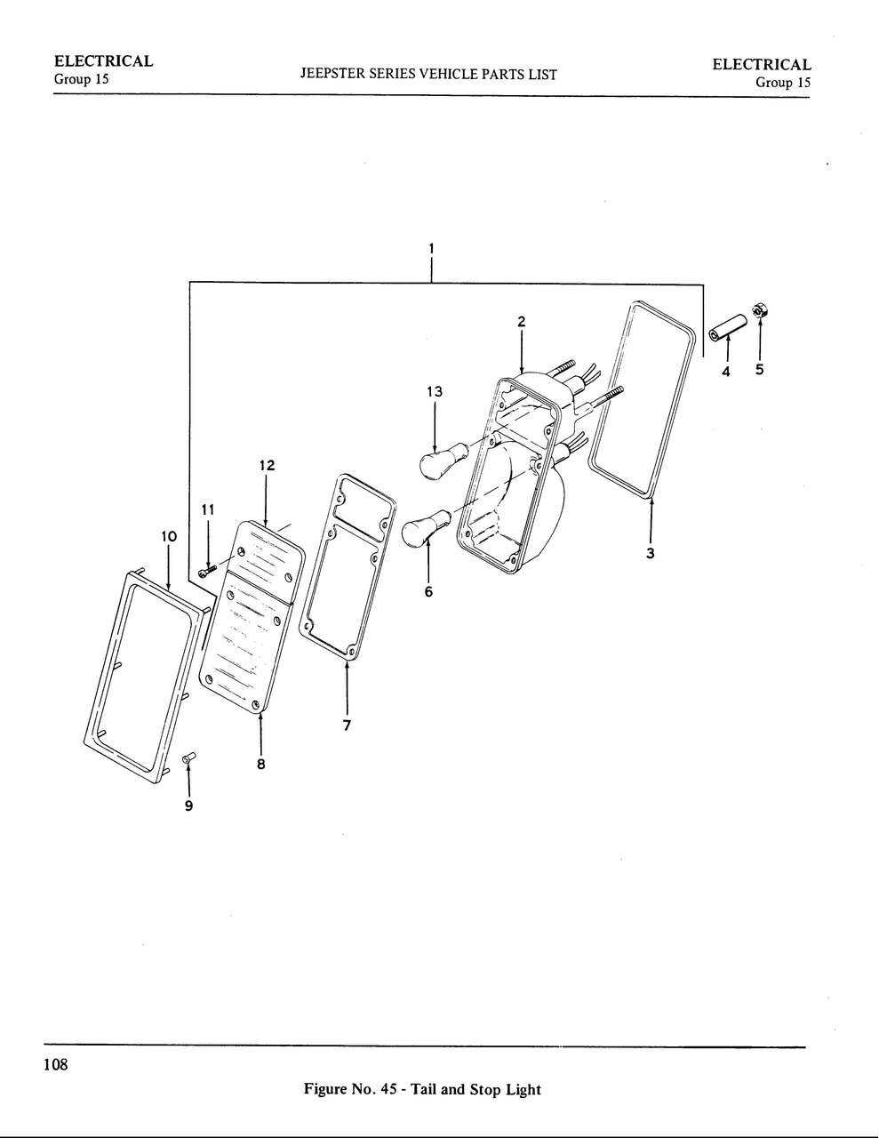 Tail light lens gasket set (2)