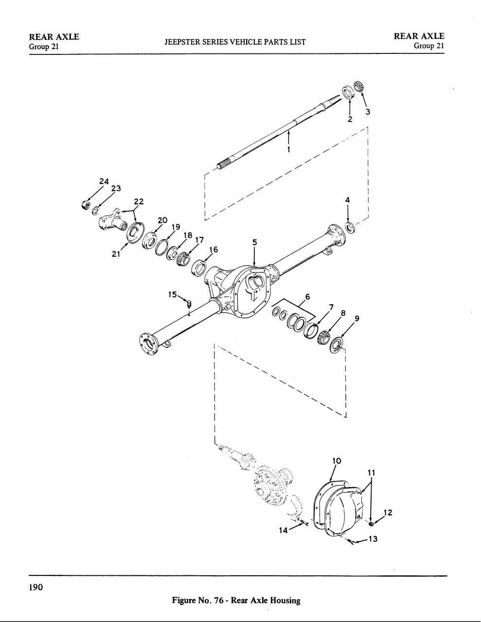 Axle cover gasket Dana 44
