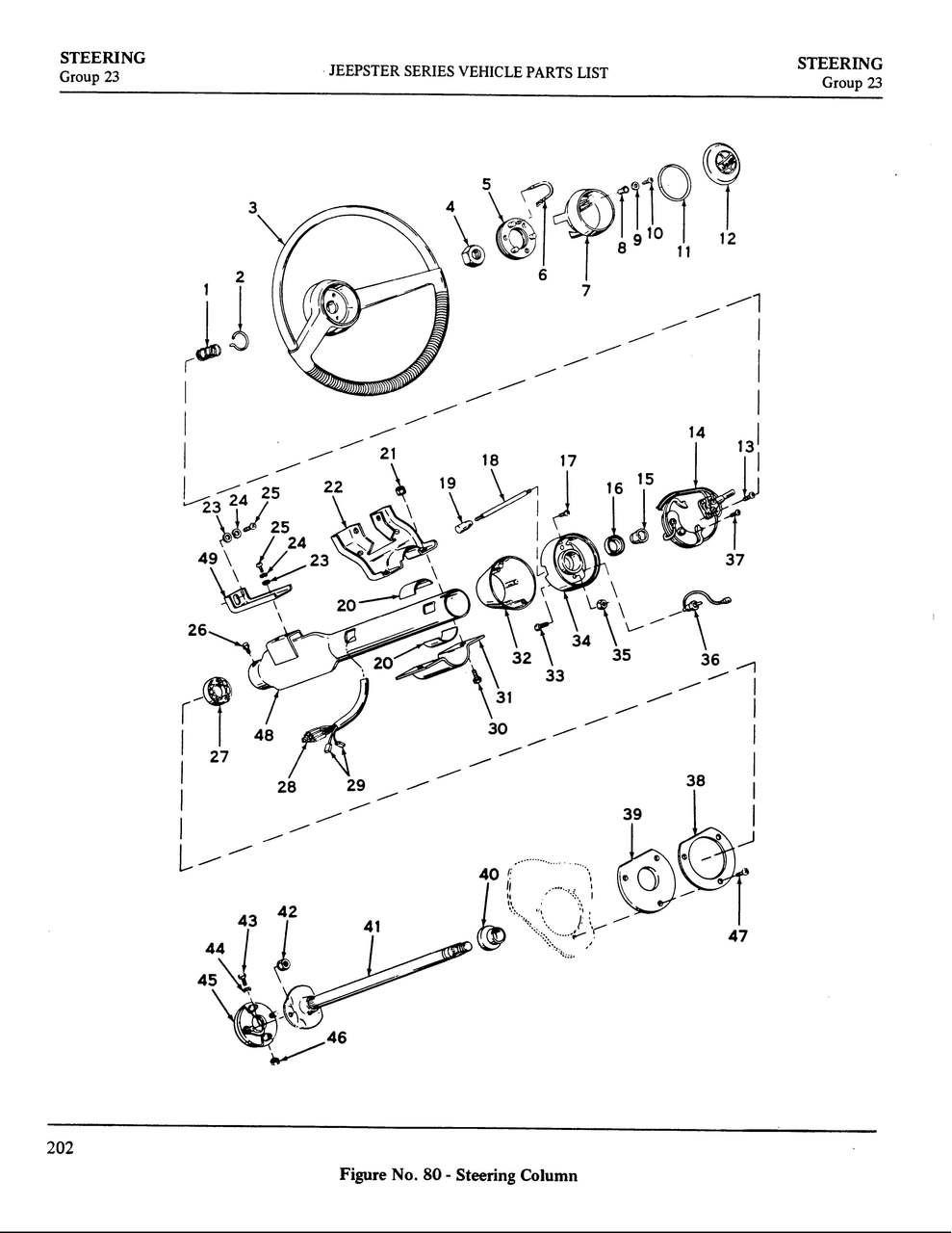 Lower Steering Column Bushing Kit