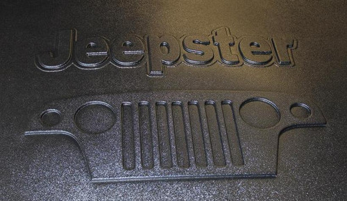 Jeepster under hood embossed cover