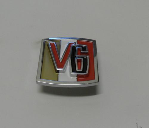 V6 emblem with mounting hardware
