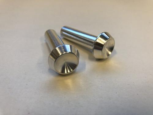 Door lock button set, smooth