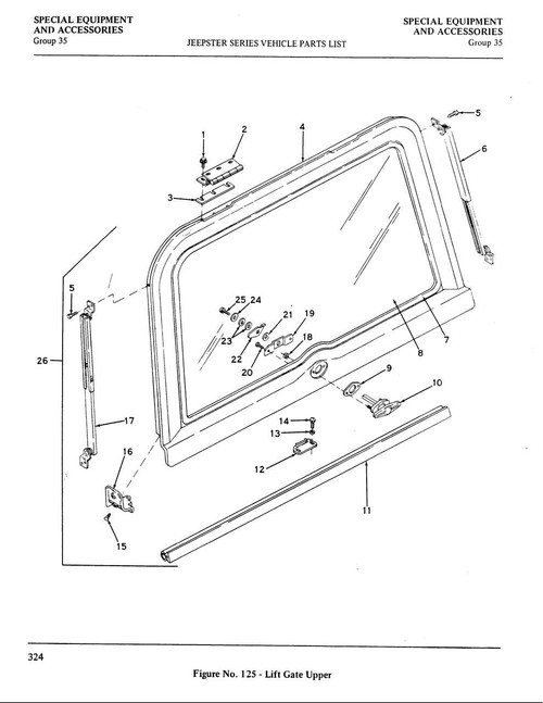 Hardtop rear hatch glass seal
