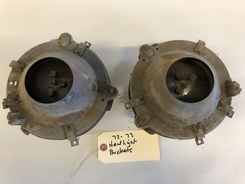 Used 72-73 Commando headlight bucket complete pair