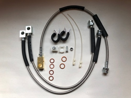 """Stainless steel brake lines, disc brake up to 4"""" lift"""