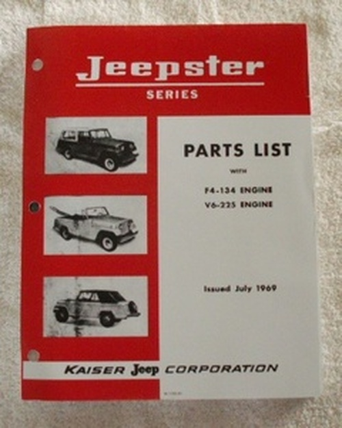 Parts Manual, 1967-71 Jeepster Commando