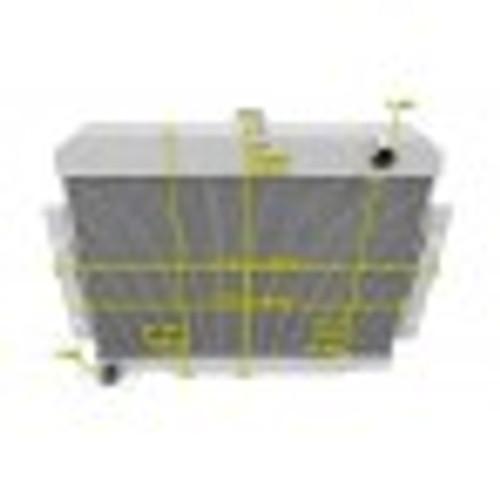 Aluminum radiator, 72-83 CJ5/6