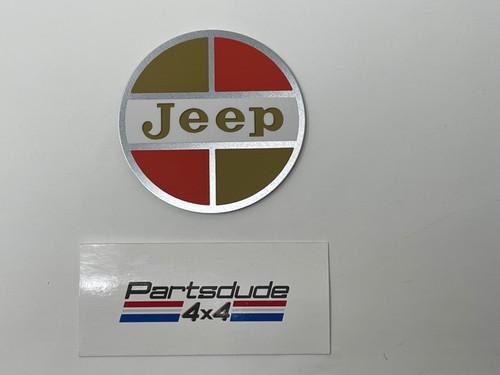 Aluminum back Jeep medallion